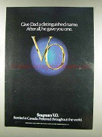 1977 Seagram's V.O. Whisky Ad - Give Dad a Name