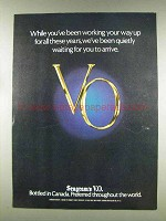 1977 Seagram's V.O. Whisky Ad - Working Your Way Up
