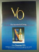 1977 Seagram's V.O. Whisky Ad - The Standard