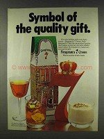 1977 Seagram's 7 Crown Whisky Ad - Quality Gift