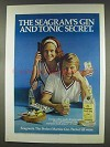 1977 Seagram's Extra Dry Gin Ad - Gin and Tonic