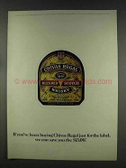 1977 Chivas Regal Scotch Ad - Just for the Label