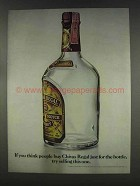 1977 Chivas Regal Scotch Ad - Buy Just for the Bottle