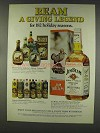 1977 Jim Beam Bourbon Ad - A Giving Legend