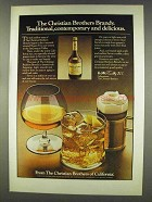 1977 Christian Brothers Brandy Ad - Delicious