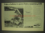 1977 Tor Line Cruise Ad - Enjoy a Holiday in Space