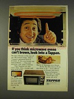 1977 Tappan Microwave Oven Ad - Think Can't Brown