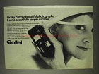 1977 Rollei A110 Camera Ad - Simply Beautiful