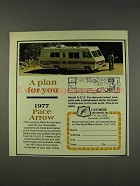 1977 Fleetwood Pace Arrow Model R-27.5 Motor Home Ad