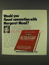 1977 American Heritage Dictionary Ad - Margaret Mead