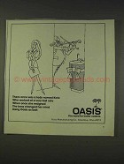 1977 Oasis Water Cooler Ad - A Lady Named Kate