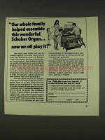 1977 Schober Organ Ad - Family Helped Assemble