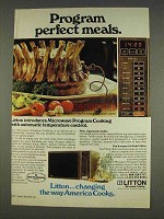 1977 Litton Model 460 Microwave Ad - Perfect Meals