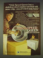 1977 Speed Queen Washer Ad - Chuck Connors
