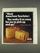 1977 American Tourister Verylite Luggage Ad - Pick Up
