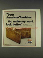 1977 American Tourister Business Mates Luggage Ad