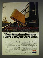 1977 American Tourister Luggage Ad - You Went West