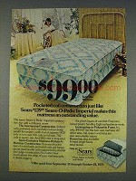 1977 Sears Twin Size Mattress Ad - Coil Construction