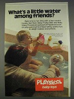 1977 Playskool Ad - Baby Flutter Ball, Water Friends