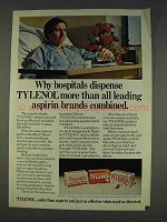 1977 Tylenol Medicine Ad - Hosipitals Dispense More