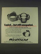 1977 Redfield JR Rings Ad - Copied But Still Unequaled
