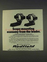 1977 Redfield JR Mounting System Ad - Economy Leader