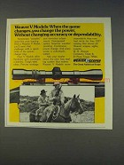 1977 Weaver V Model Scopes Ad - Game Changes