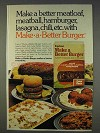 1977 Lipton Make a Better Burger Ad - Better Meatloaf