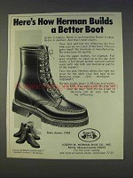 1977 Herman Survivors Boots Style 7184 Ad - Better Boot