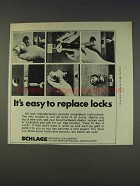 1977 Schlage Locks Ad - It's Easy to Replace Locks