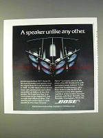 1977 Bose 901 Series III Speakers Ad - Unlike Any Other