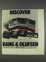 1977 Bang & Olufsen Stereo Components Ad - Discover