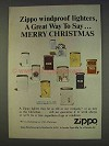 1977 Zippo Cigarette Lighters Ad - Say Merry Christmas