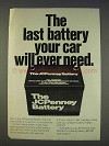 1977 JCPenney Battery Ad - The Last Your Car Will Need