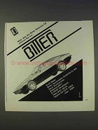 1977 Bitter Diplomat CD Car Ad - in German