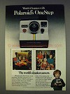 1977 Polaroid OneStep Camera Ad - World's Simplest