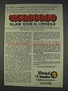 1977 Mutual of Omaha Ad - $250,000,000 Coverage