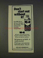 1977 WD-40 Lubricant Ad - Don't Start Out Without It