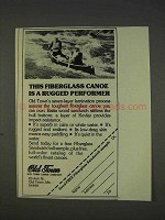 1977 Old Town Canoe Ad - A Rugged Performer