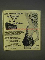 1977 Frederick's of Hollywood Lingerie Ad - Round Trip