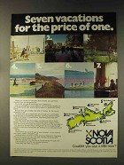 1976 Nova Scotia Canada Ad - Seven Vacations for One