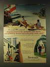 1976 Bermuda Tourism Ad - Almost Deserted Island