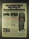1976 Sears RoadHandler Tires Ad - The Rugged Trials