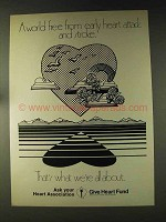 1976 American Heart Association Heart Fund Ad
