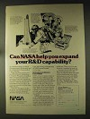 1976 NASA Ad - Expand Your R&D Capability