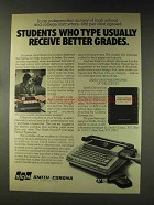 1976 Smith-Corona Cartridge Ribbon Typewriter Ad - Students