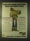 1976 Cycle 3 Dog Food Ad - Overweight in Dogs