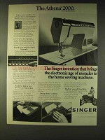 1976 Singer Athena 2000 Sewing Machine Ad