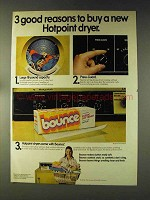 1976 Bounce Dryer Sheets Ad - Buy a Hotpoint Dryer