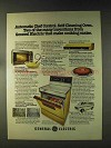 1976 G.E. Automatic Chef Microwave, P-7 Oven & Hoods Ad